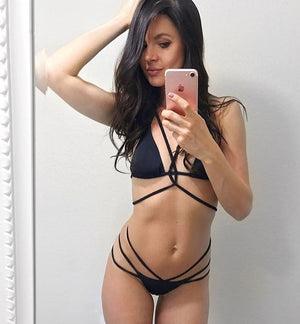 Two Piece Sexy Push Up Bra Strap Bikini