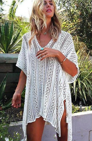 Crochet Knitted Tassel See-through