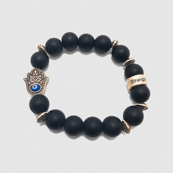 Strength Hamsa Hand #3 Black