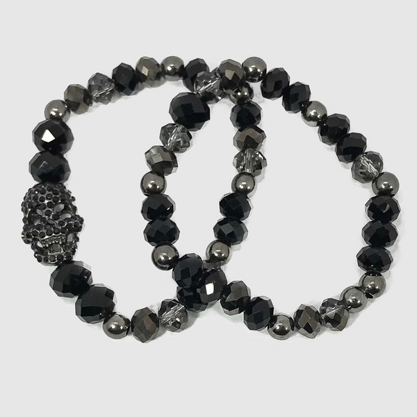 Black Pave Skull Stack 9