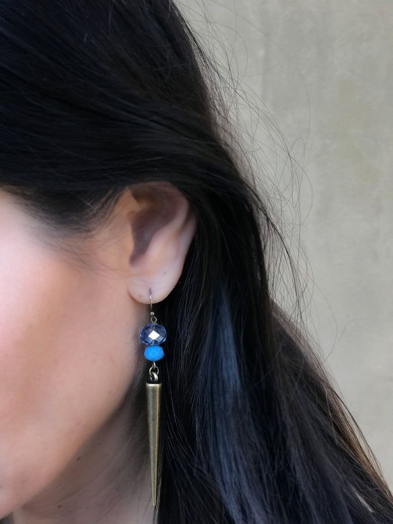 Stiletto Earring #1 Blue