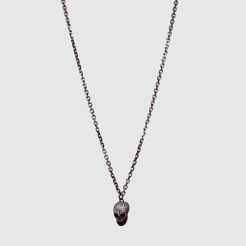 Maureen Pave' Skull Necklace