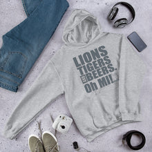 Load image into Gallery viewer, Lions, Tigers and Beers.  Oh MI!™ (Lions - grey) - MIbeers