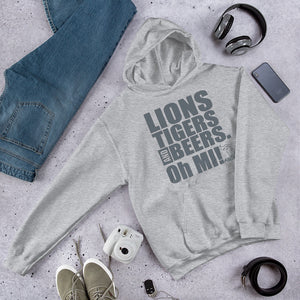 Lions, Tigers and Beers.  Oh MI!™ (Lions - grey) - MIbeers