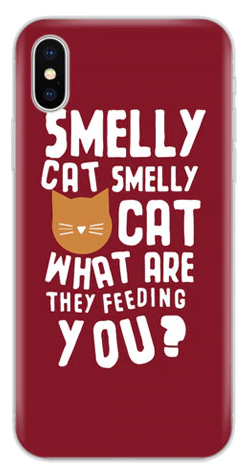 Silicone iPhone Case - Smelly Cat