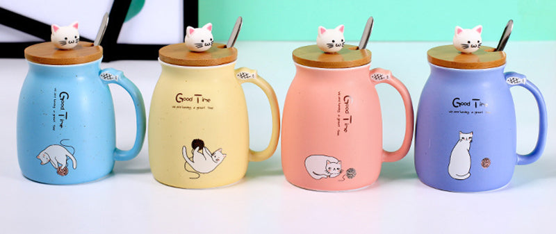 Ceramic Good Time Kitty Mug