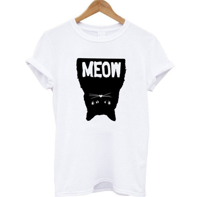 Ladies Upside Meow Tee