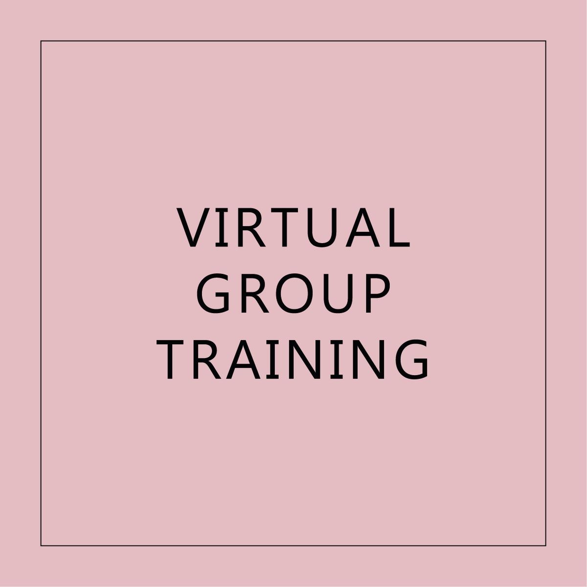 Virtual Group Training