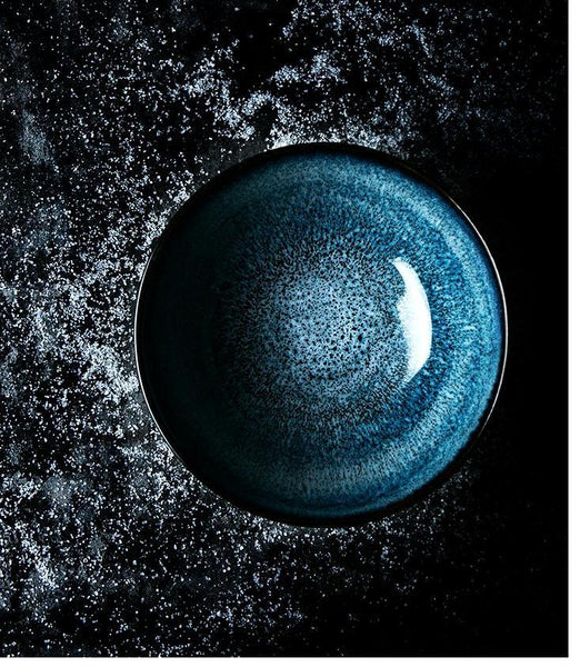 Deep Blue Glazed Ceramic Big Bowl - Bowl