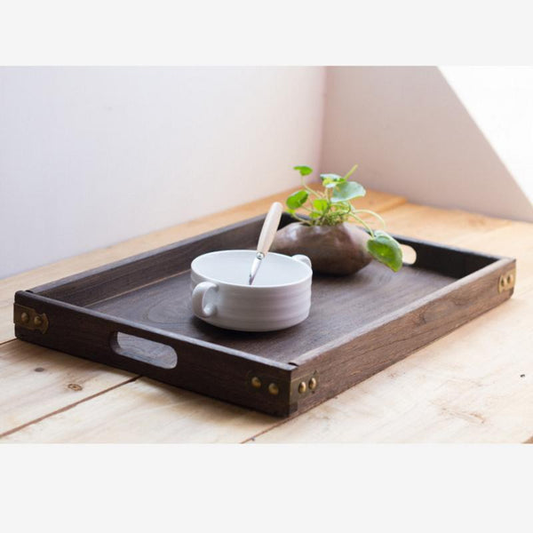 Rustic Square Wooden Serving Tray - Box & Tray