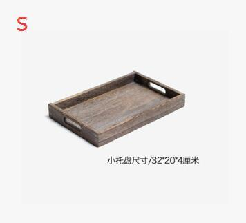 Rustic Square Wooden Serving Tray - S - Box & Tray