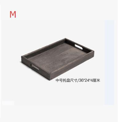 Rustic Square Wooden Serving Tray - M - Box & Tray
