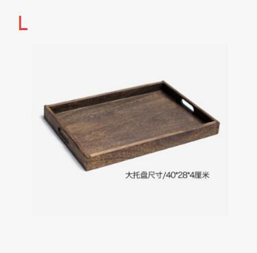 Rustic Square Wooden Serving Tray - L - Box & Tray