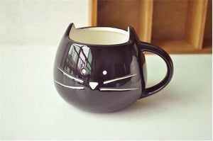 Cat In The Cup -Ceramic Cup - Black