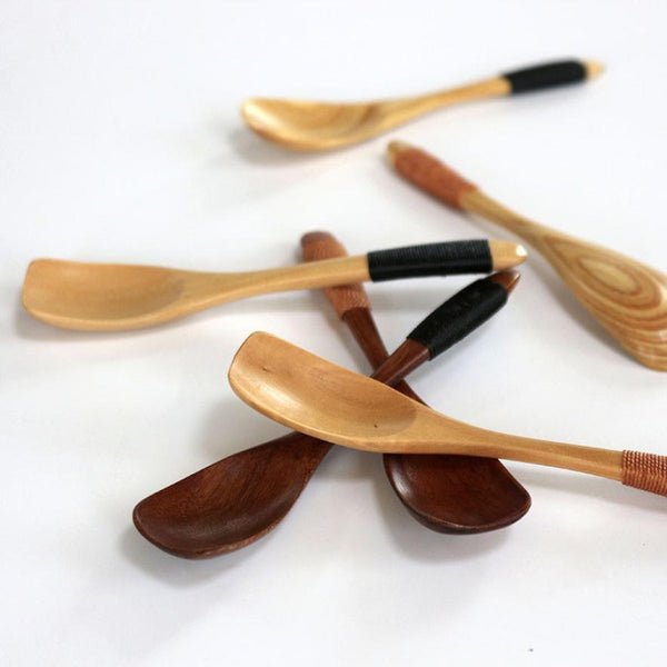 Japanese Style Square-Shaped Bamboo Spoon - Cutlery