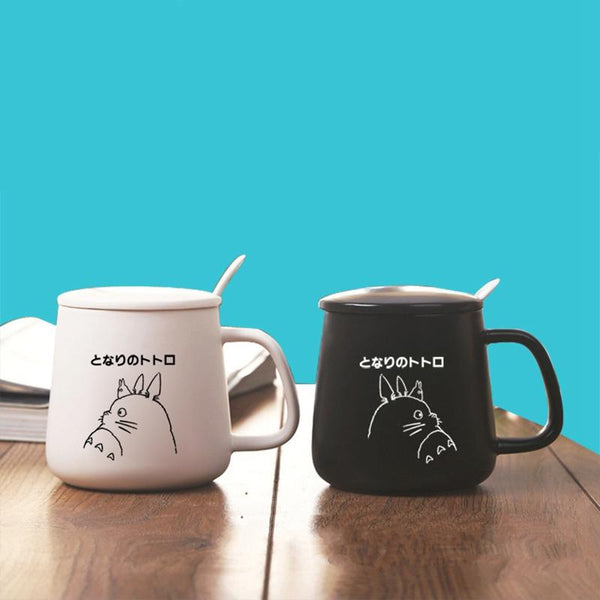 Totoro Black / White Ceramic Coffee Mug - Cup & Mug