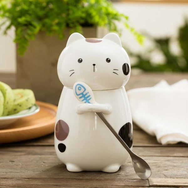 Cat With The Spoon Combo - B / 400Ml - Cup & Mug