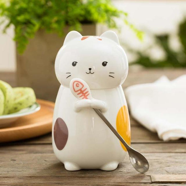 Cat With The Spoon Combo - C / 400Ml - Cup & Mug