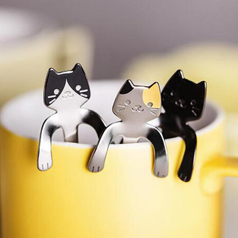 Hanging Cat Stainless Steel Spoon
