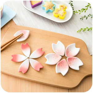 Japanese Cherry Petals Ceramic Chopstick Stand - Other