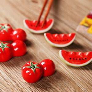 (2Pcs/ Pair) Watermelon Chopstick Rest - Other