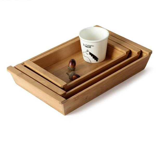 Wooden Serving Tray - Box & Tray