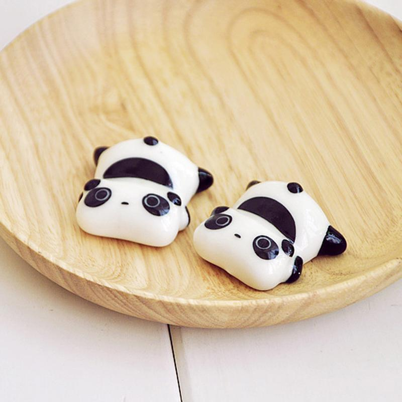 (4 Pcs / Set) Ceramic Panda Chopstick Holders - Other