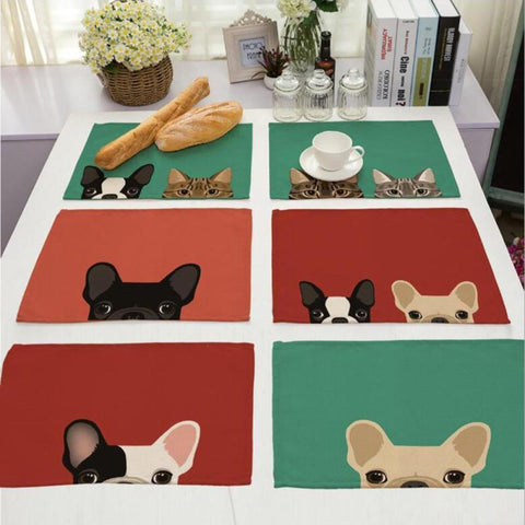 Cat& Dog Linen Placemat - Other