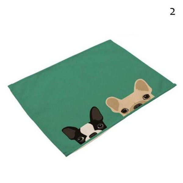 Cat& Dog Linen Placemat - 2 - Other