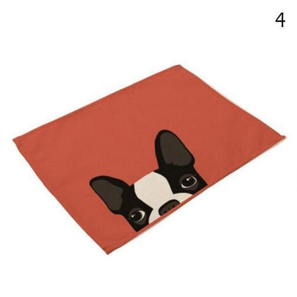 Cat& Dog Linen Placemat - 4 - Other