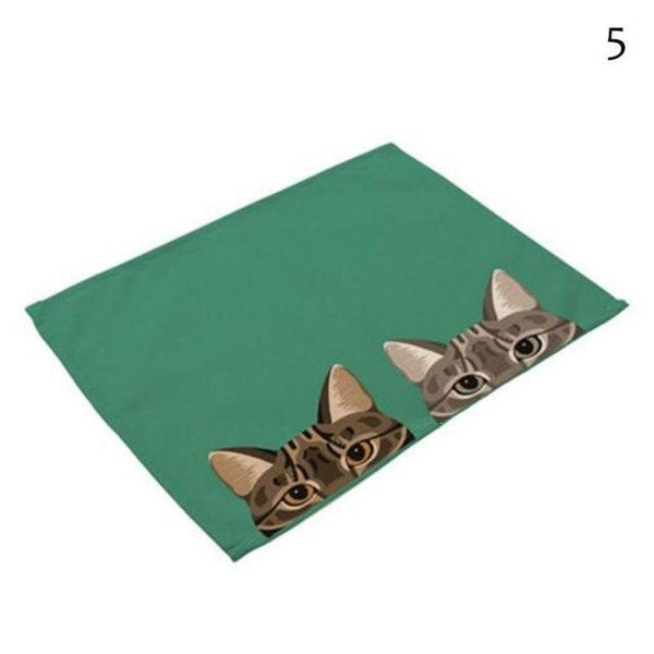 Cat& Dog Linen Placemat - 5 - Other