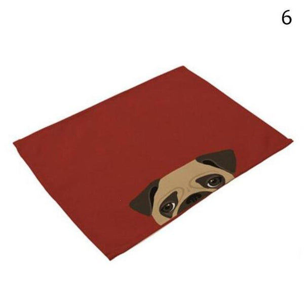 Cat& Dog Linen Placemat - 6 - Other