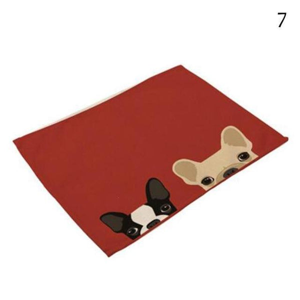 Cat& Dog Linen Placemat - 7 - Other