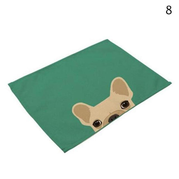 Cat& Dog Linen Placemat - 8 - Other