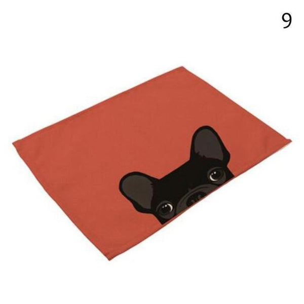 Cat& Dog Linen Placemat - 9 - Other