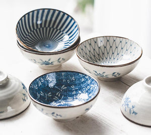 Japanese Style Ceramic Rice Bowl