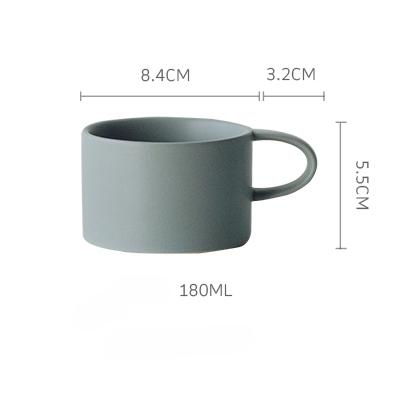 Macaroon Coffee Cup - Light Grey / 180Ml - Cup & Mug
