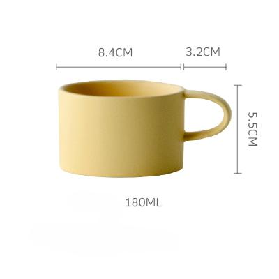 Macaroon Coffee Cup - Yellow / 180Ml - Cup & Mug