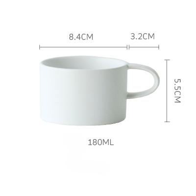 Macaroon Coffee Cup - White / 180Ml - Cup & Mug