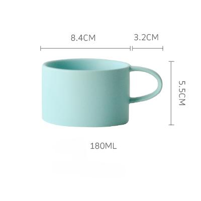 Macaroon Coffee Cup - Mint / 180Ml - Cup & Mug