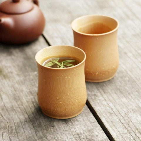 Traditional Bamboo Beige Color Cup - Cup & Mug