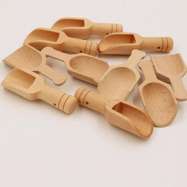 Natural Wooden Scoop Spoon (1Pc) - Cutlery