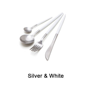 (7 colors) Stainless Steel Matte-Finish Cutlery Set