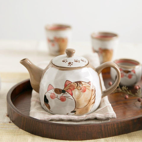 Mochi The Cat Japanese Style Teapot & Cup - Cup & Mug