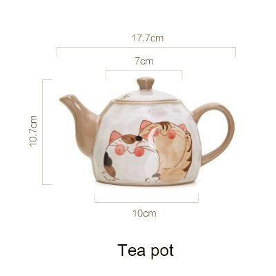 Mochi The Cat Japanese Style Teapot & Cup - Tea Pot - Cup & Mug