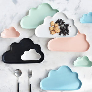 Happy Cloud Ceramic Plates - Plate