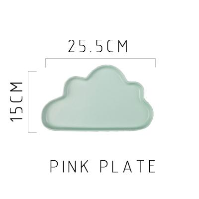 Happy Cloud Ceramic Plates - Green Plate - Plate