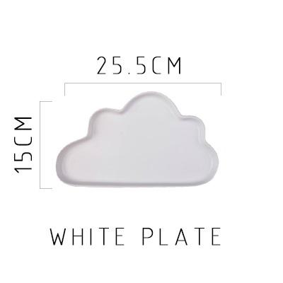 Happy Cloud Ceramic Plates - White Plate - Plate