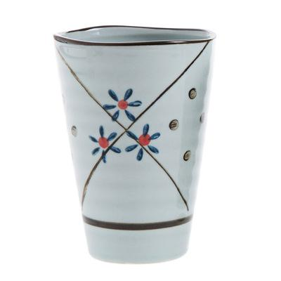 Hengfeng Handmade Ceramic Tea Cup - Blue Star / 200Ml - Cup & Mug
