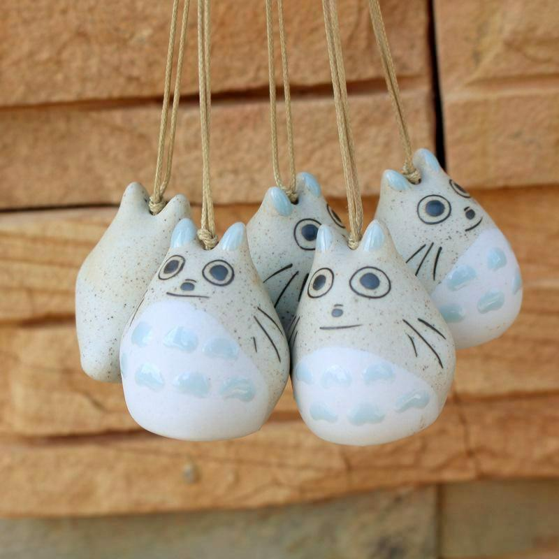 (2Pcs/lot) Totoro Ceramic Wind Chimes - Other